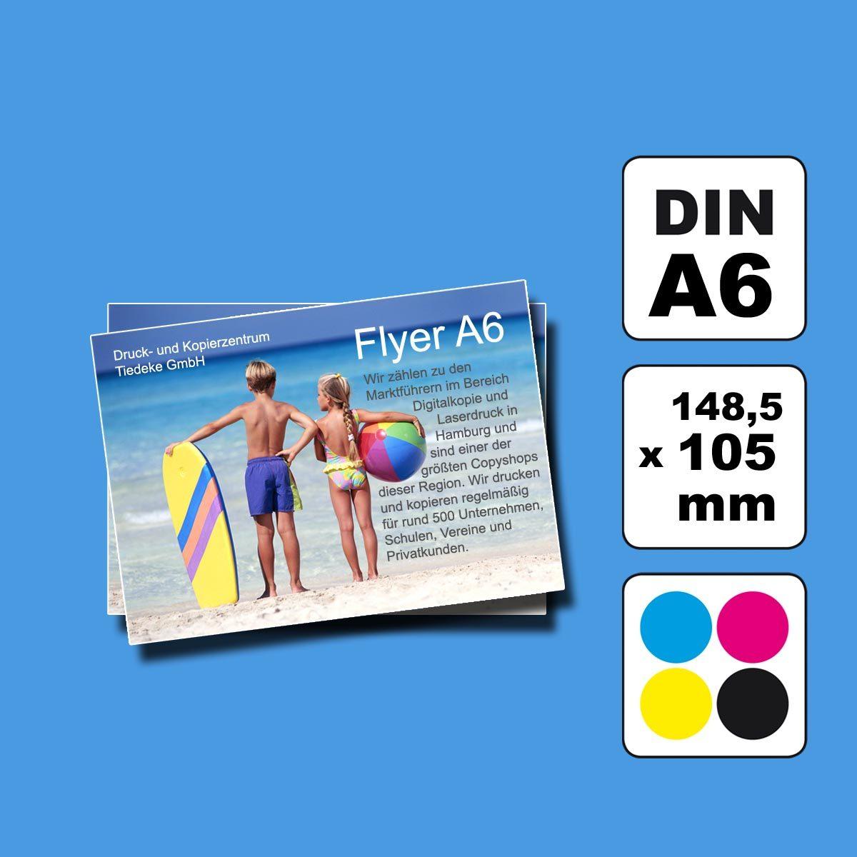 Flyer Handzettel DIN A6 Druckerei Hamburg