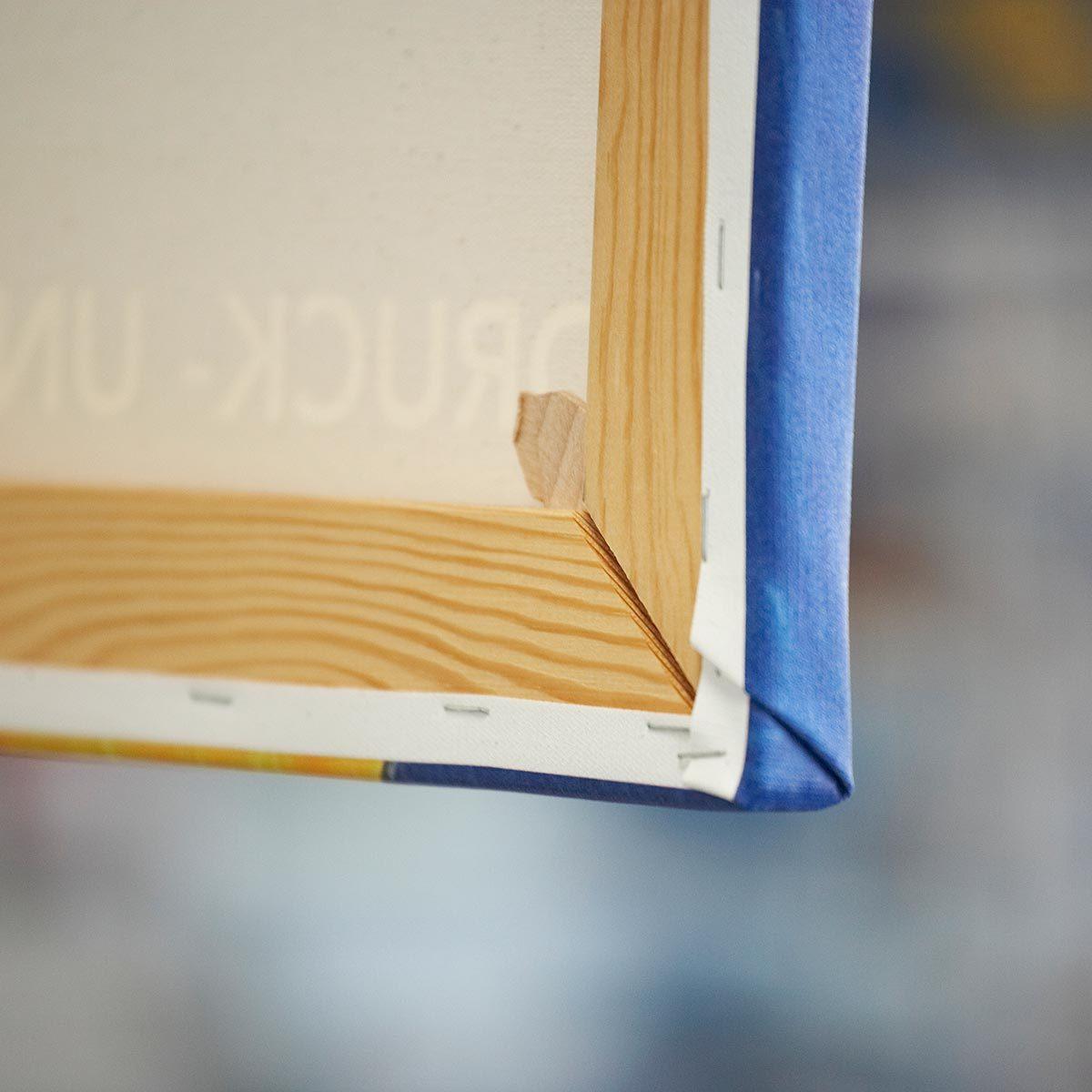 Leinwanddruck auf Holz-Keilrahmen aufgezogen