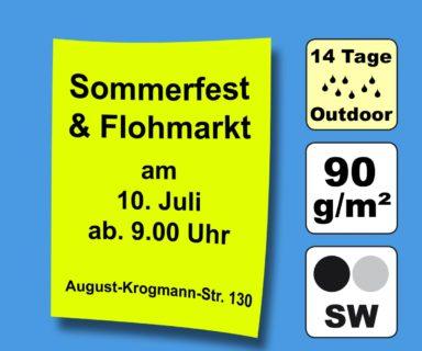 Plakate SW auf farbigem Papier