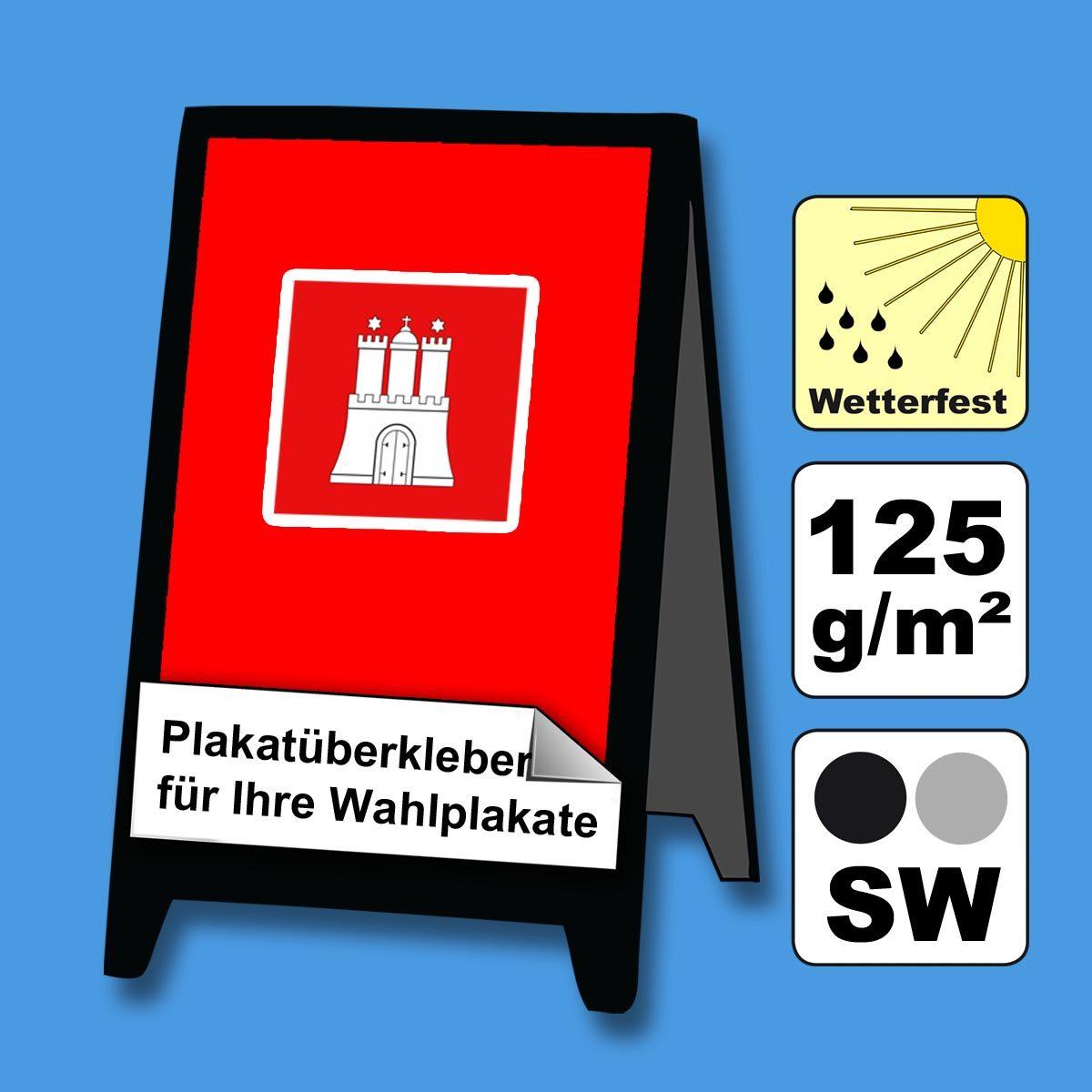 Plakate SW Überkleber