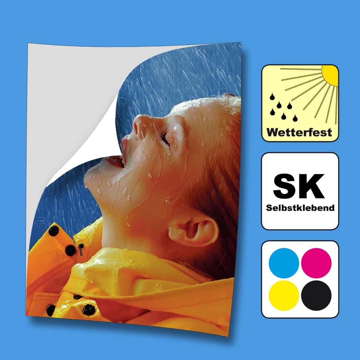 Wir drucken Ihnen hochwertige Selbstklebefolie in Hamburg. Die SK-Folie ist dauerhaft klebend oder wieder ablösbar verfügbar.
