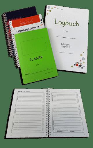 Schulplaner Hausaufgabenhefte Jahresplaner Logbücher