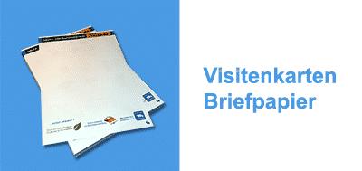 Visitenkarten, Briefpapier